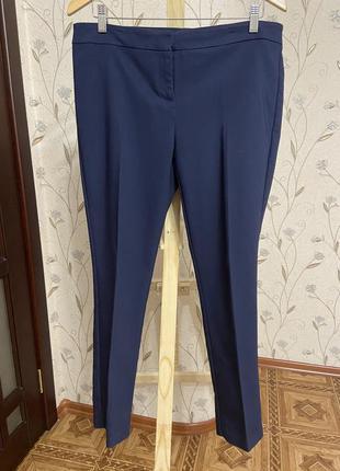 Брюки, штаны, офисные брюки, темно-синие брюки