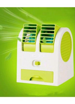 Вентилятор, Освежитель воздуха – Mini Fan MY-0199 ЗЕЛЕНЫЙ