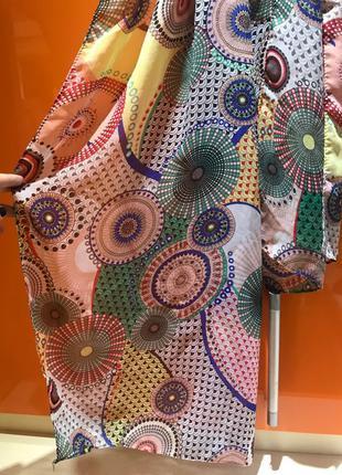 Платок шарф лёгкий парео шейный платок бандана лента для волос