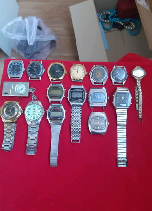 Часы советские, механика, электроника