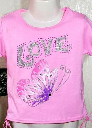 Яркие футболки для девочек 3-10 лет , много моделей