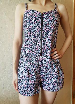 Летний комбинезон-шорты из натуральной ткани. (индия)  H&M