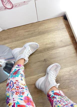 Женские летние ботинки сетка сквозная перфорация