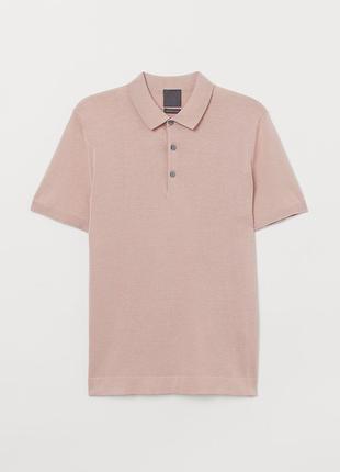 Шелковая футболка поло Н&М, р. XL