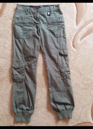 Фирменные коттоновые штаны Next