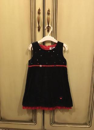 Бархатное платье chicco на девочку 2 лет
