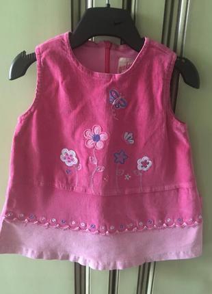 Вельветовый сарафан на девочку 1-2 года