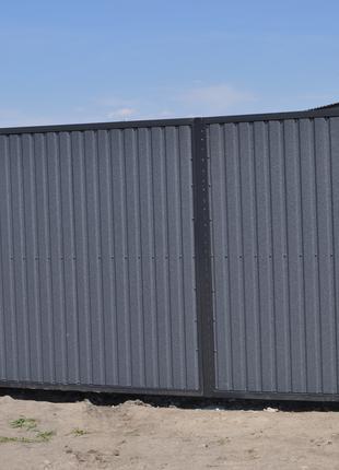 Забор з профнастилу.  Паркан.  Огорожа.