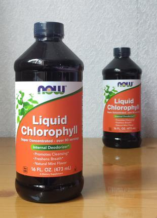 Жидкий хлорофилл, Now Foods , аромат мяты, 473 мл
