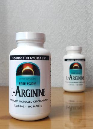 L-аргинин, 1000 мг, Source Naturals, 100 таблеток