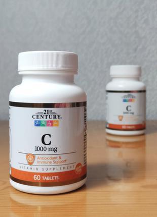 Витамин С, 1000 мг, 21st Century, 60 шт