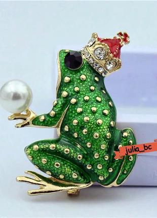Брошь царевна-лягушка, смотрите больше бижутерии в моих объявл...