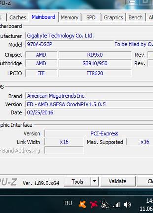 Материнская плата Gigabyte GA-970A-DS3P+Процессор fx8320 AM3+