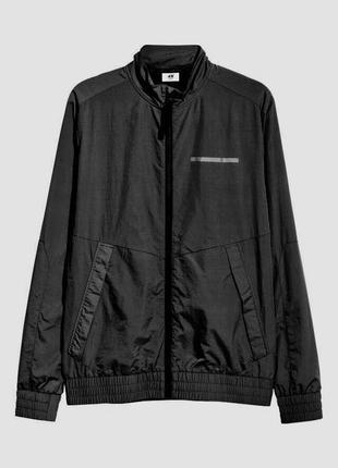 Чёрная спортивная куртка h&m sport !