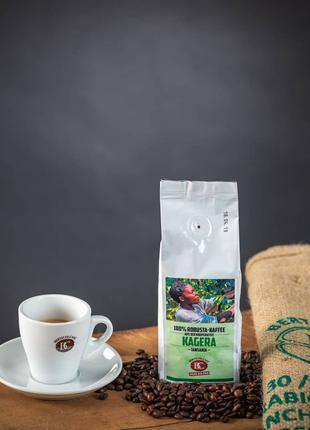 Зерновой кофе Bertschi. Танзания. Швейцарская обжарка 100 робуста
