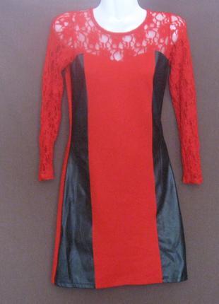 Платье женское красное мини. Красивенное. Дешево.