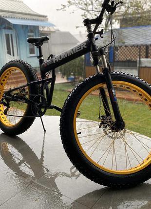 Велосипед Фэтбайк Fatbike Hummer Black (Cкладной)