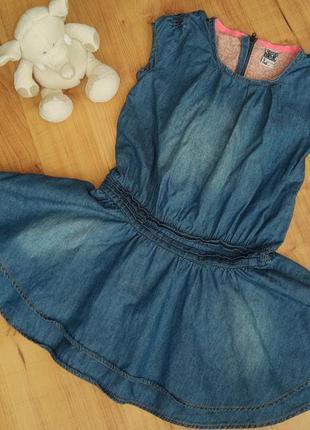 Джинсовое платье на 5-7 лет