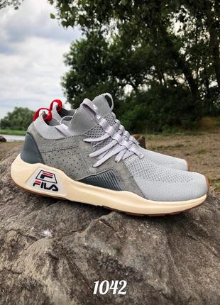 Мужские брендовые кроссовки fila gray с сеткой, вьетнам