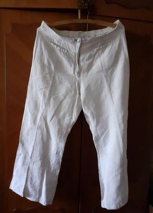 Льняные брюки большого размера