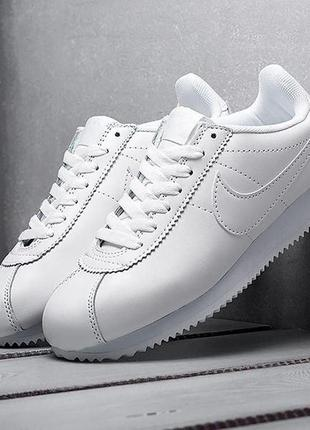 Кроссовки мужские nike cortez classic leather white