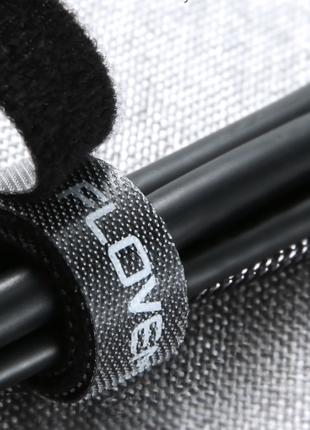 Стяжка липучка для проводов липкая лента для кабелей органайзер