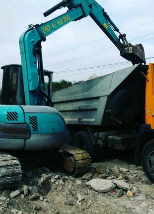 Доставка сыпучих грузов и вывоз строительного мусора КамАЗ и Зил