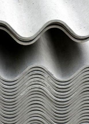 Шифер (8волн) серый 1,13м*1,75м *5,8мм