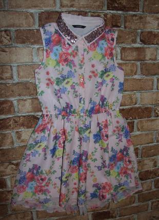 Платье нарядное шифон девочке 10 - 11 лет