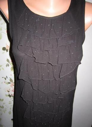 Изысканное коктейльное платье миди kookai а-силуэт впереди рюш...