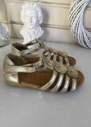 Золотые босоножки сандали h&m 26 размера
