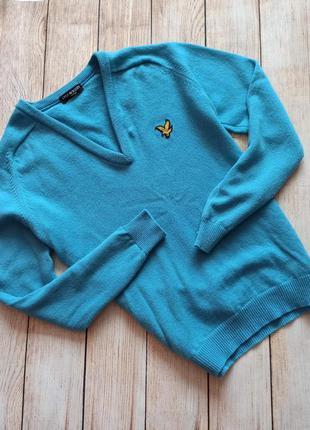 Кофта свитер lyle scott vintage бирюзовый