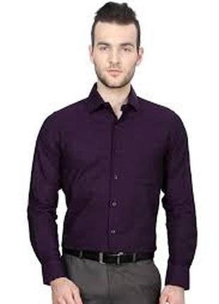 Рубашки приталенные фиолетовые  warren webber