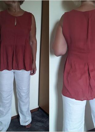 Трендовая блузка ,теракотового цвета