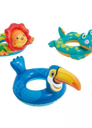 Надувной плавательный круг для плавания игрушка животные intex 58