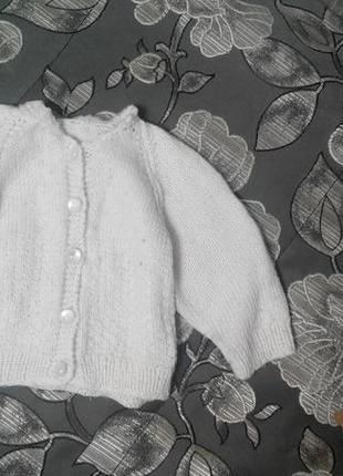Кофточка вязанная от 2 месяцев до 1 года.