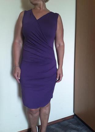 Трикотажное фиолетовое платье  s/m