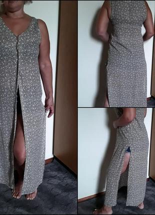 Шифоновое  платье кардиган в пол  principles petite