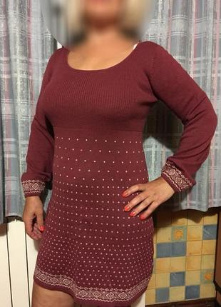 Вязанное платье  m/l