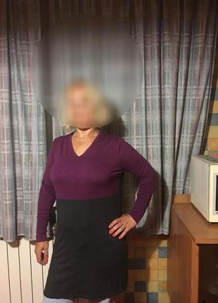 Вязаное платье свободного покроя