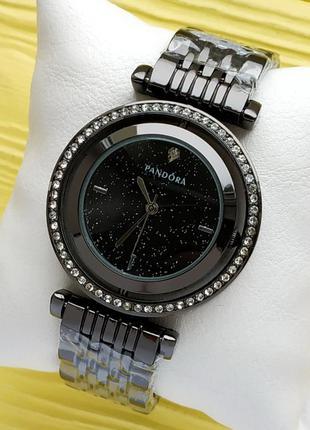 """Женские наручные часы черного цвета, черный циферблат - """"звезд..."""