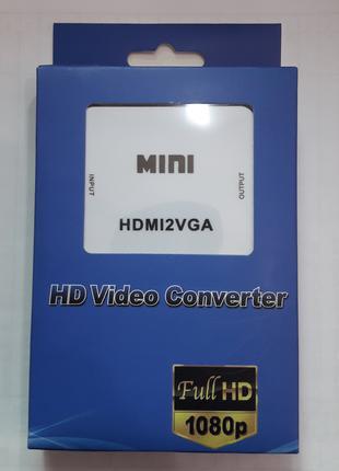 HDMI на VGA адаптер конвертер видео с аудио 1080P HDV-630 VGA-01