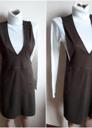 Трикотажное  платье  сарафан  + гольф 🎁
