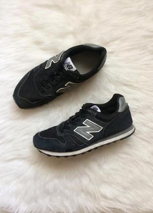 Чёрные замшевые кроссовки нью бэланс,кросівки new balance 373 ...