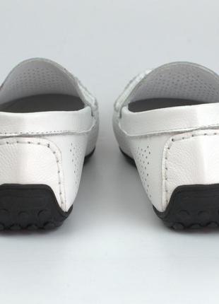 Мужская обувь больших размеров летние мокасины кожаные белые п...