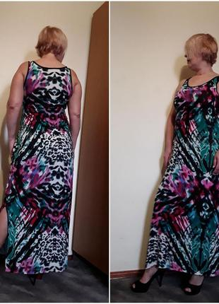 Платье сарафан цветное