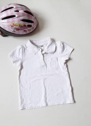 Белая футболка на девочку 6 лет