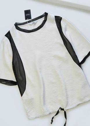 Блуза-футболка со вставками от next