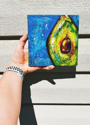 """картина маслом """"little avocado"""""""