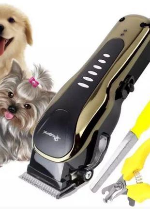 Машинка для стрижки собак и кошек Gemei GM6063,стрижка животны...